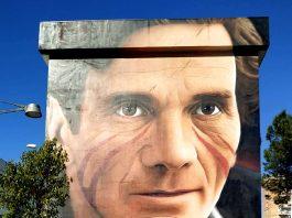 Murales Pier Paolo Pasolini a Scampia, Napoli - Jorit