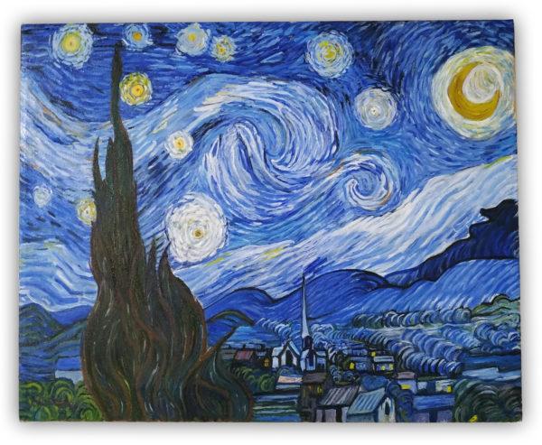 La notte stellata di Vincent Van Gogh - Copia Olio su Tela