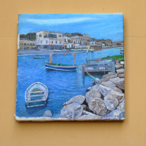 "Dipinti Olio su tela: ""Scorcio di Bacoli marina"""