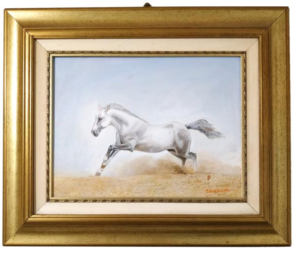 """Dipinto Olio su tela: """"Cavallo elegante e selvaggio"""""""